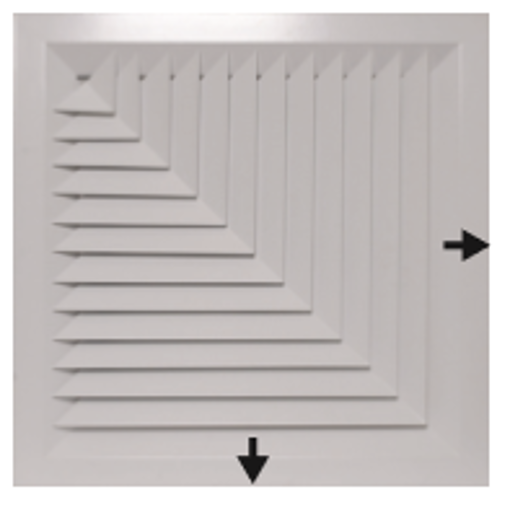 Picture of Lay-In 2-Way Corner Blow Diffuser