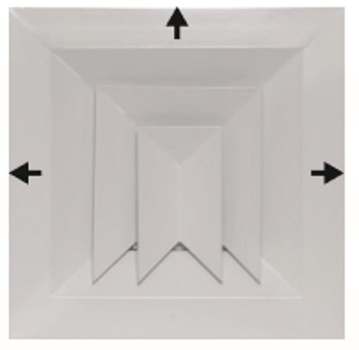 Picture of Flush Mounted 3-Way Blow Diffuser