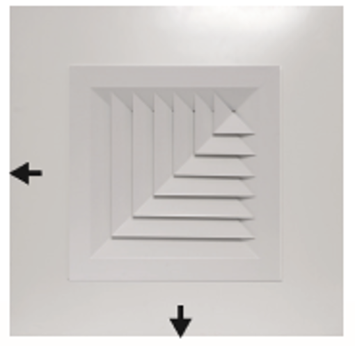 Picture of Plaque 2-Way Corner Blow Diffuser