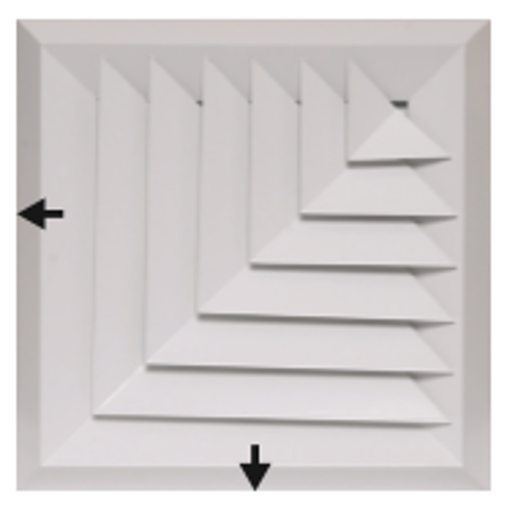 Picture of Bevelled Edge 2-Way Corner Blow Diffuser