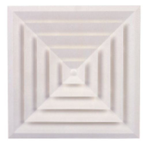 Picture of A.B.S. Plastic Bevelled Edge 4-Way Diffuser