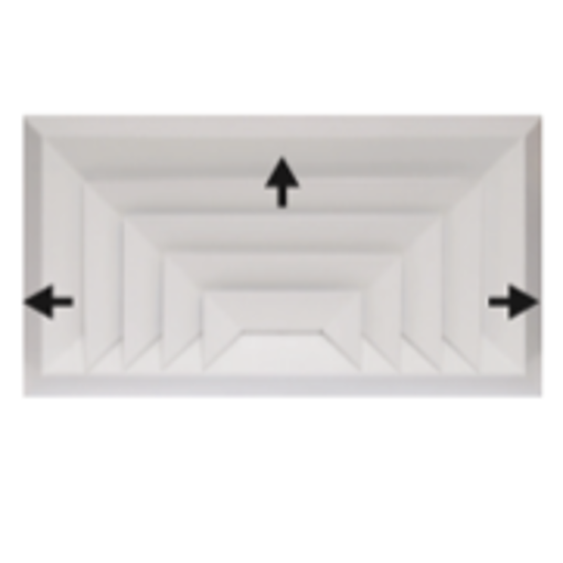 Picture of Bevelled Edge 3-Way Rectangular Diffuser